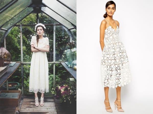 vestido de noiva midi modelo simples 14