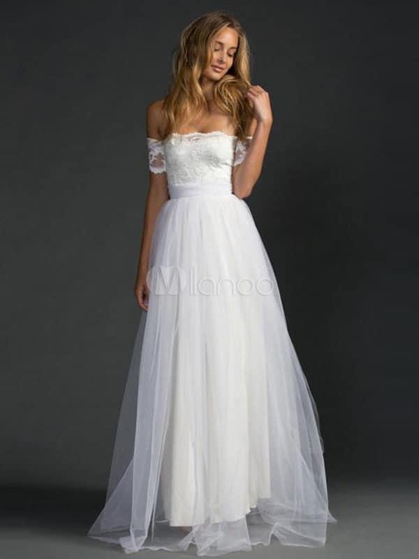 vestido de noiva modelo princesa simples 27