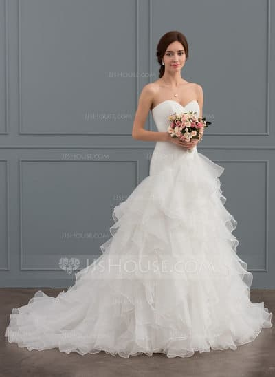vestido de noiva modelo princesa simples 28