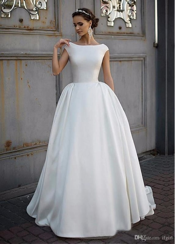 vestido de noiva modelo princesa simples 29