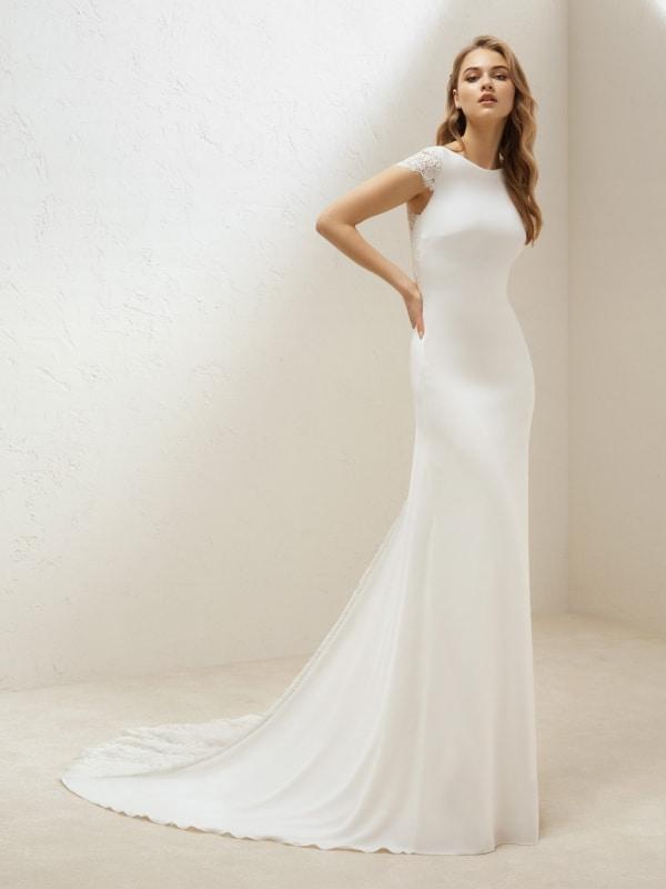vestido de noiva modelo sereia simples 25