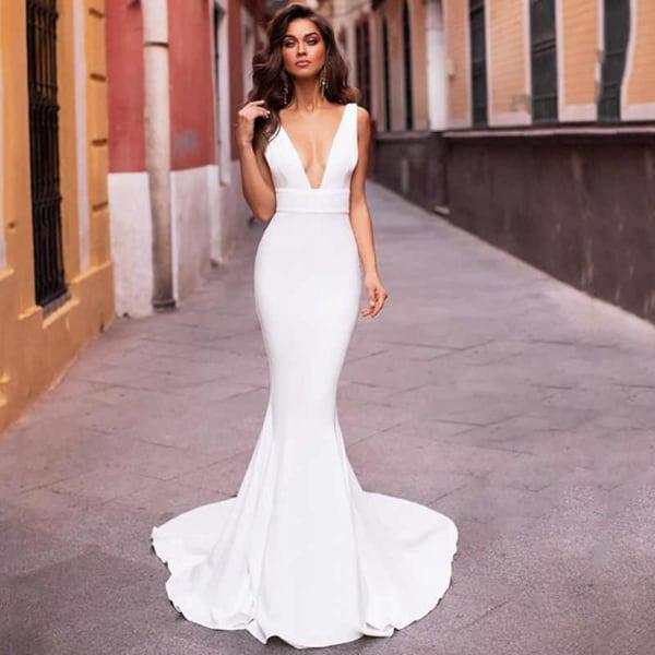 vestido de noiva sereia simples 21