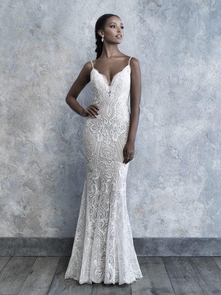 vestido de noiva simples com renda 32