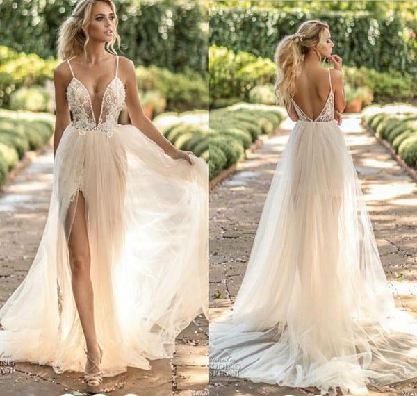 vestido de noiva simples com renda 34