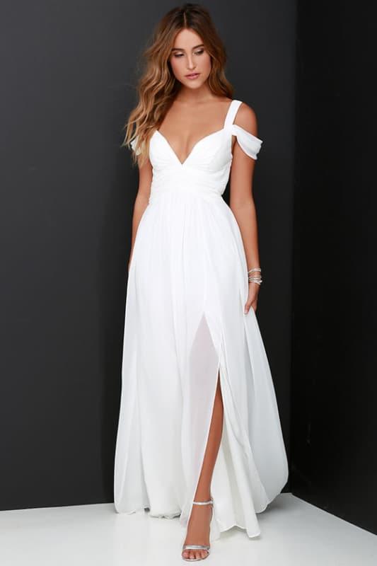 vestido longo para noiva simples 15