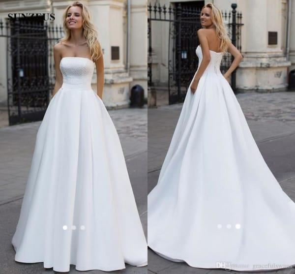 vestido longo para noiva simples 17
