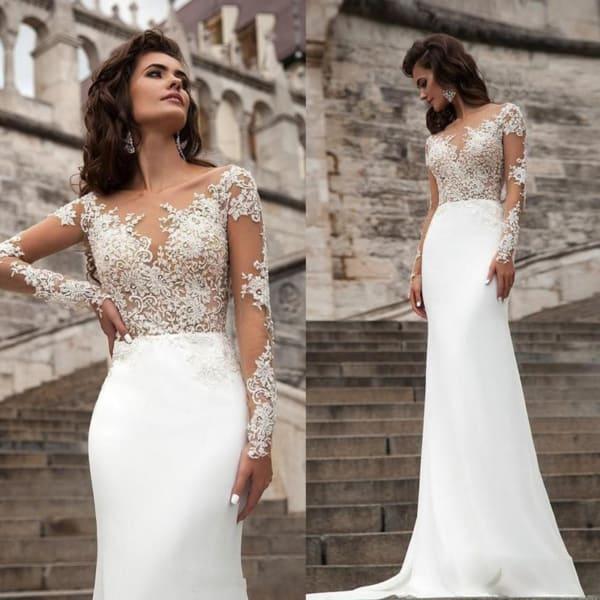 vestido longo para noiva simples 19