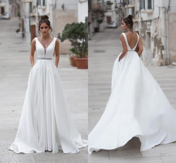 vestido longo para noiva simples 20