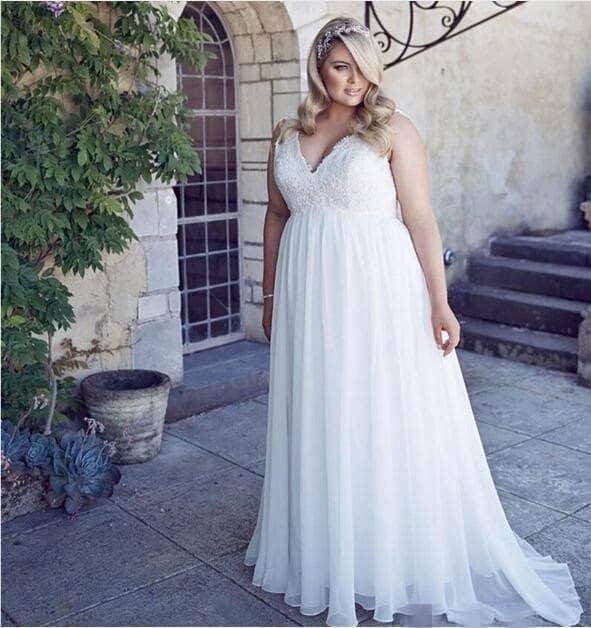 vestido noiva princesa boho chic plus size 55