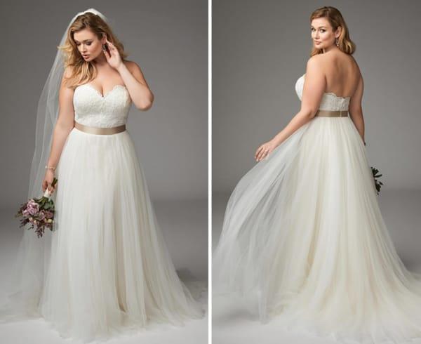 vestido para noiva plus size 49