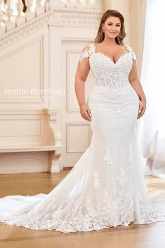 vestido para noiva plus size 50