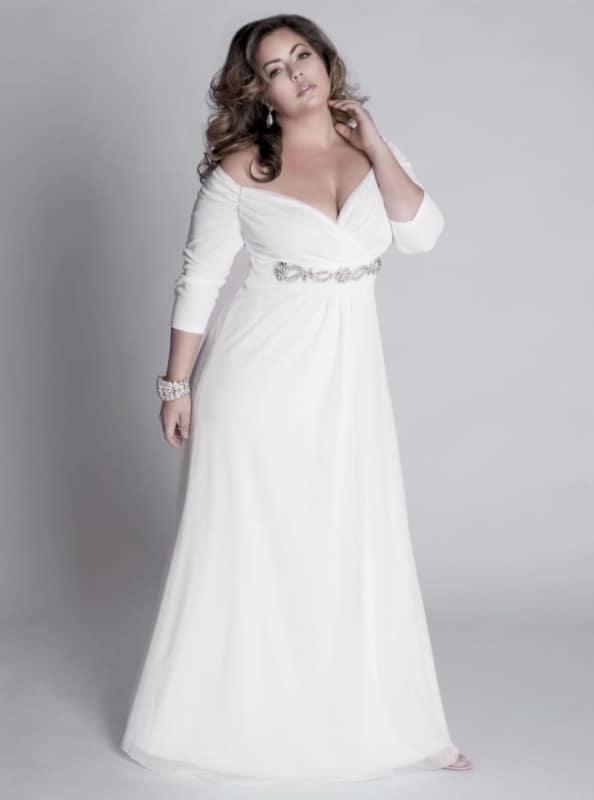 vestido para noiva plus size 51