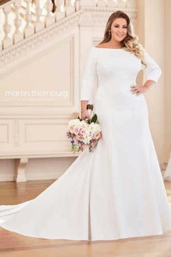 vestido para noiva plus size 52