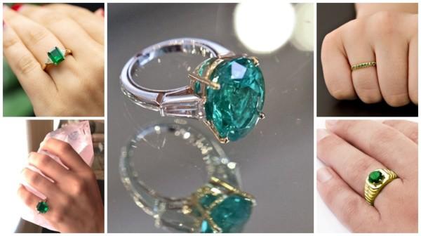 modelos de anel de esmeralda