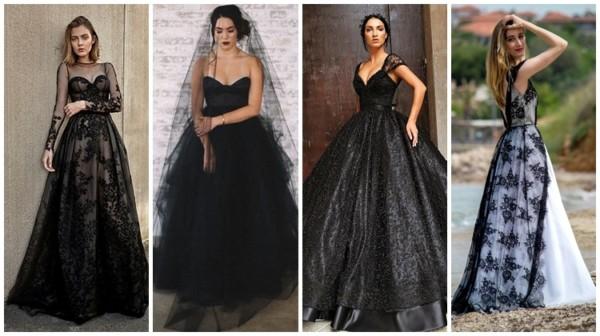 Vestido de noiva preto – 72 fotos de modelos impressionantes!