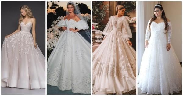 Vestido de noiva princesa – Como escolher? + 75 ideias LINDAS!