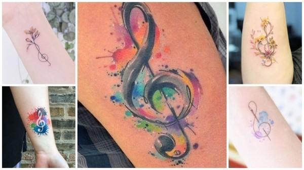 Tatuagem clave de sol – 49 ideias que expressam o amor pela música!