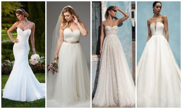 Vestido de noiva tomara que caia – 54 opções MARAVILHOSAS!