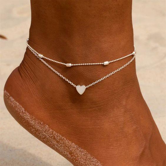 modelos de tornozeleiras de prata