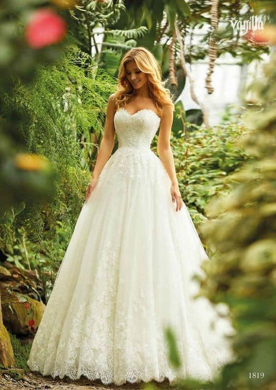 vestido de noiva princesa tomara que caia e com renda