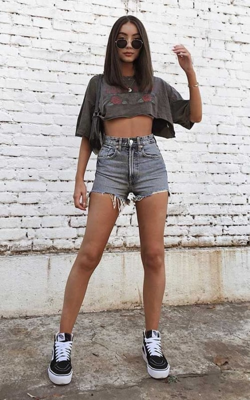 look tumblr dia a dia com cropped