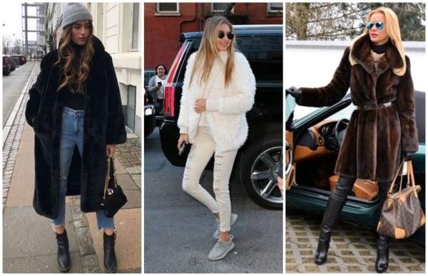 modelos de casacos de pelo