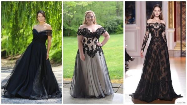 modelos de vestido de noiva longo e preto
