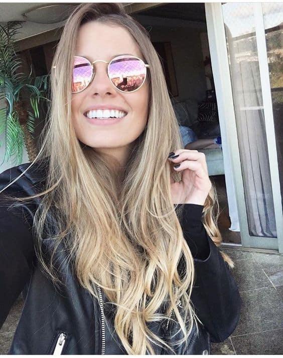 look com óculos de sol espelhado feminino