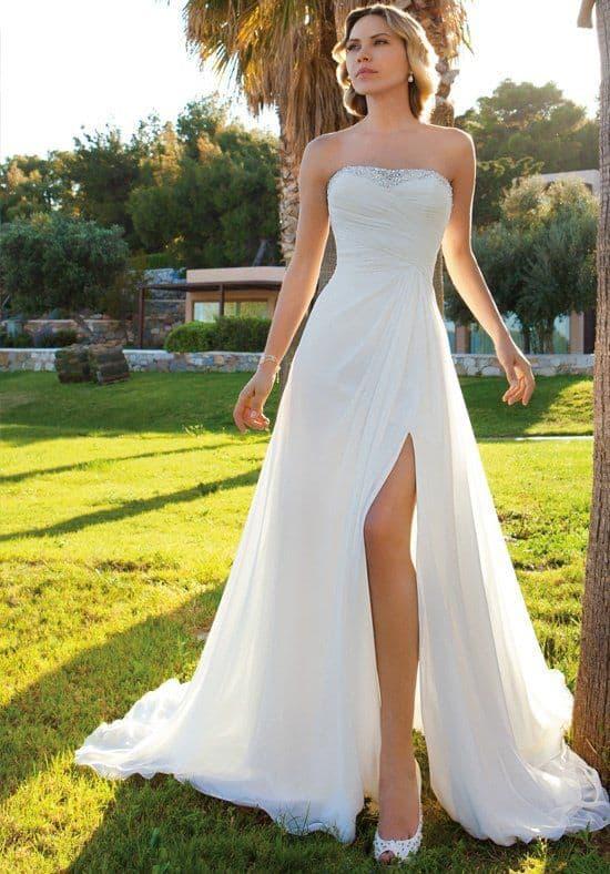 vestido de noiva tomara que caia em voal