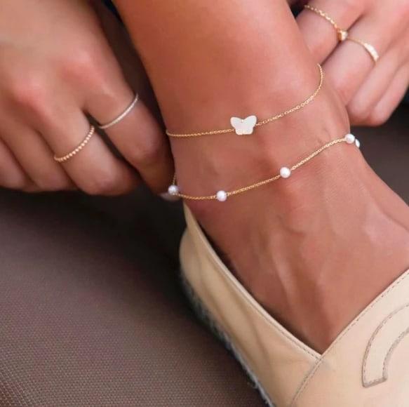 como usar tornozeleira de ouro