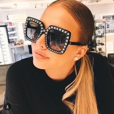look com óculos feminino oversize quadrado