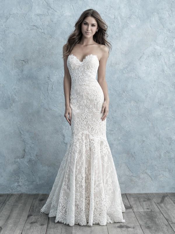 vestido de noiva romântico em renda e sem alças
