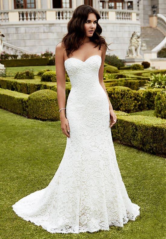 vestido de noiva simples em renda