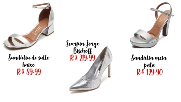 modelos e onde comprar sapato prateado