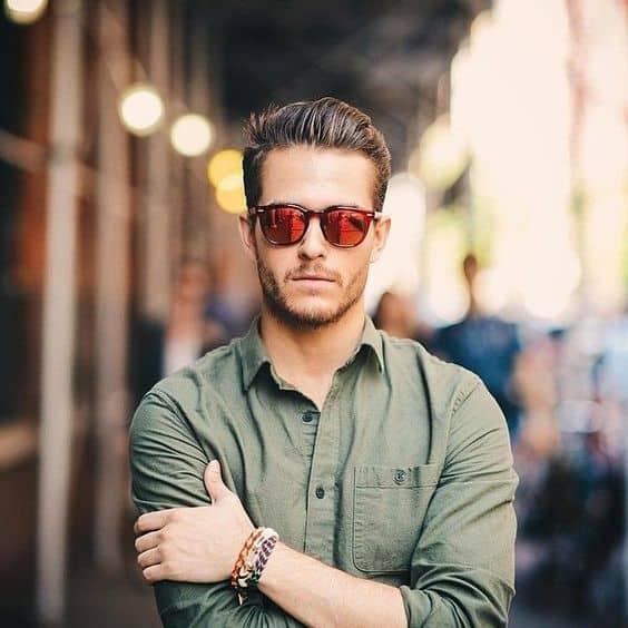 como usar óculos espelhado masculino