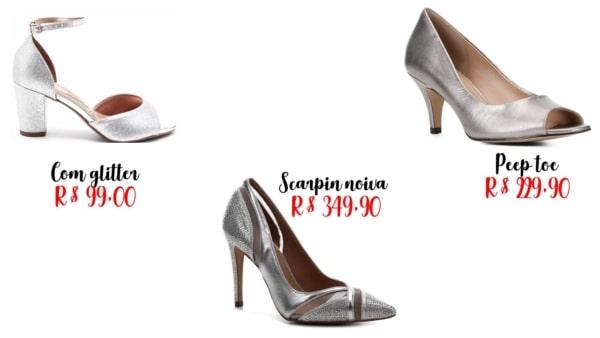 modelos e preços de sapato prateado