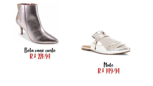modelos sapato prateado