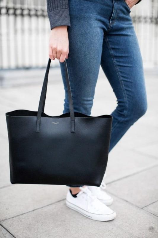 como usar bolsa sacola preta