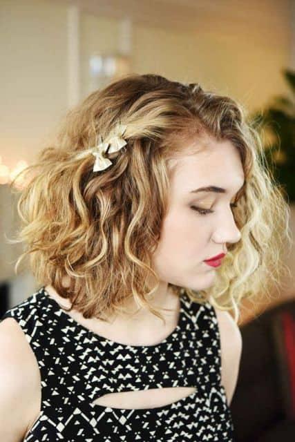 penteado simples para cabelo cacheado