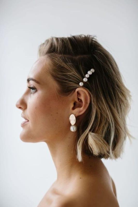 penteado simples para cabelo curto e liso