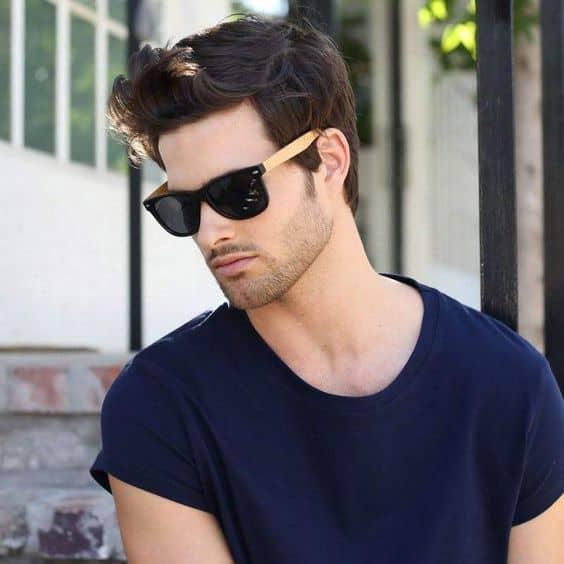 look com óculos de sol masculino quadrado modelo wayfarer