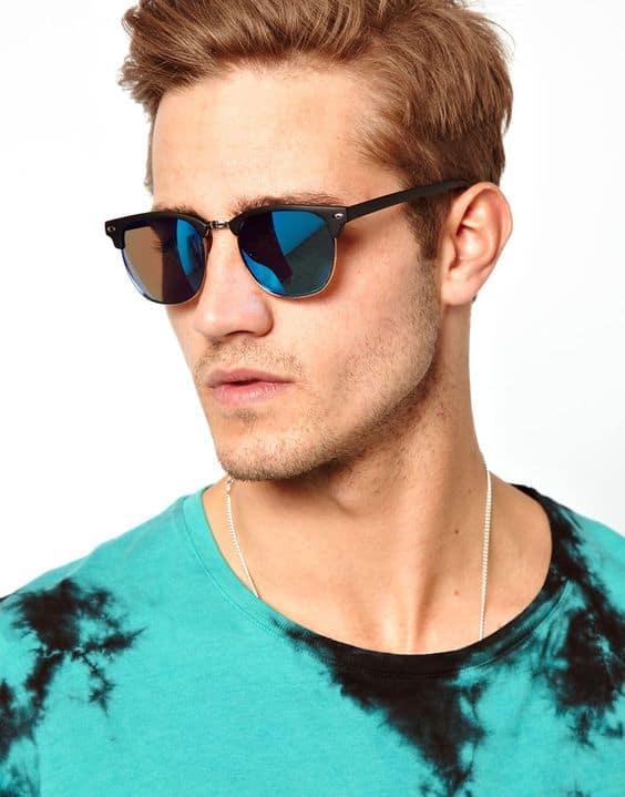 como usar óculos de sol masculino modelo clubmaster