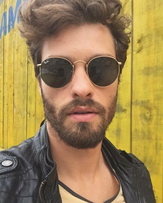 modelo de óculos de sol redondo masculino