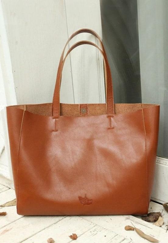 modelo de bolsa caramelo tipo sacola