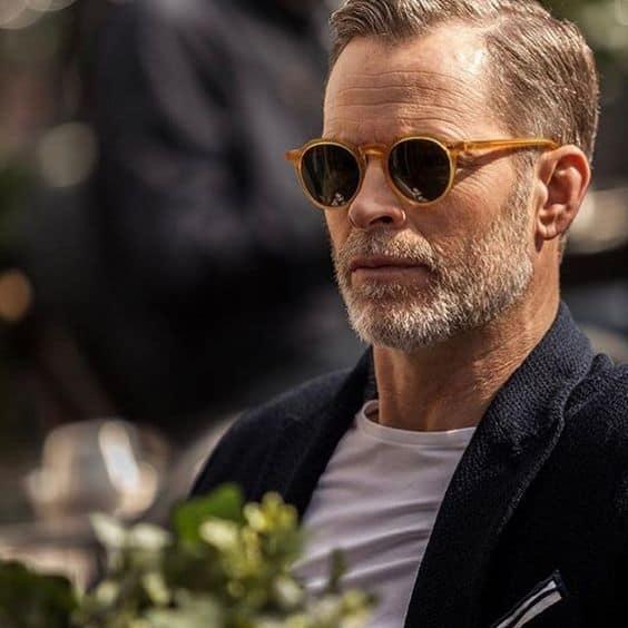 óculos de sol masculino redondo com armação de acetato
