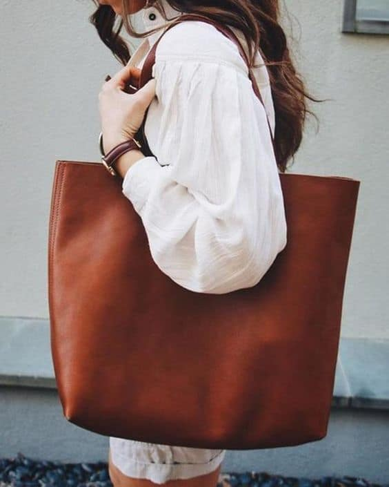 como usar bolsa sacola marrom