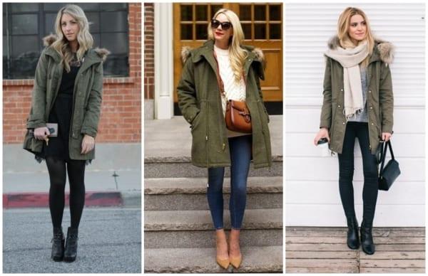 modelos de casacos parka