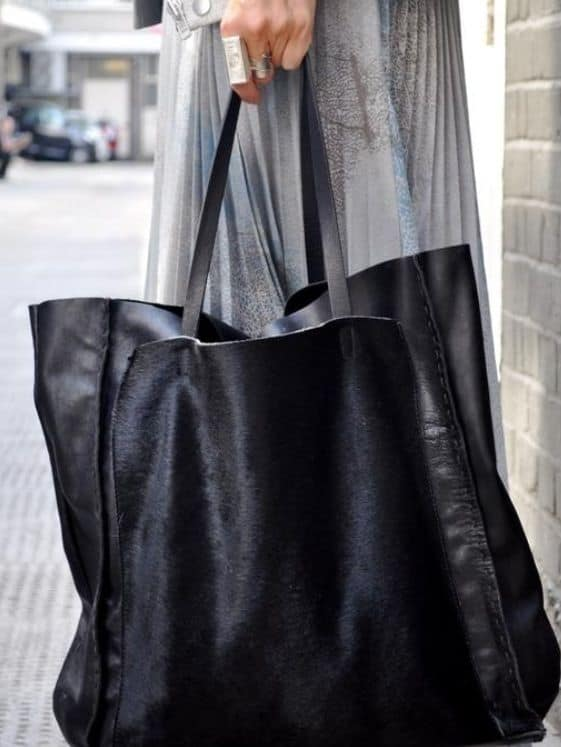 bolsa sacola preta grande