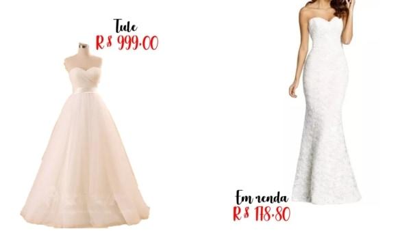 modelos e preços de vestido de noiva sem alças