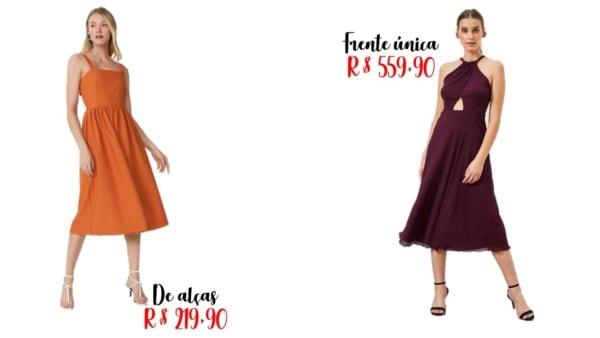 modelos e onde comprar vestido midi rodado
